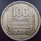 Photo numismatique  Monnaies Anciennes colonies Françaises Algerie, Algeria 100 Francs Algerie, Algeria, 100 francs Turin 1950, contremarqué O.A.S, TTB