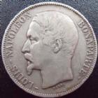 Photo numismatique  Monnaies Monnaies Françaises Deuxième République 5 Francs LOUIS NAPOLEON BONAPARTE, 5 francs 1852 A, G.726 TB+