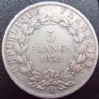 Photo numismatique  Monnaies Monnaies Fran�aises Deuxi�me R�publique 5 Francs LOUIS NAPOLEON BONAPARTE, 5 francs 1852 A, G.726 TB+