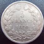Photo numismatique  Monnaies Monnaies Françaises Défense nationale 5 Francs 5 francs Cérès 1870 A Sans légende, G.742 TB+