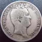 Photo numismatique  Monnaies Monnaies Françaises Louis Philippe 5 Francs LOUIS PHILIPPE, 5 francs tête nue 1831 B Rouen, G.676 B à TB