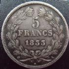 Photo numismatique  Monnaies Monnaies Françaises Louis Philippe 5 Francs LOUIS PHILIPPE, 5 francs 1833 A, G.678 petits coups sinon TTB