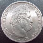 Photo numismatique  Monnaies Monnaies Françaises Louis Philippe 5 Francs LOUIS PHILIPPE, 5 francs 1834 H La Rochelle, G.678 presque TTB
