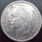 Photo numismatique  Monnaies Monnaies Françaises Second Empire 5 Francs NAPOLEON III, 5 francs 1869 A, G.739 TTB