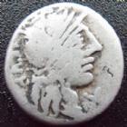 Photo numismatique  Monnaies R�publique Romaine Minucia 122 avant Jc Denier, denar, denario, denarius Q.MINUCIUS RUFUS, denier Rome en 122 avant Jc, les Dioscures, 3,65 grms, RSC.Minucia 1 TB