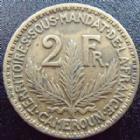 Photo numismatique  Monnaies Anciennes colonies Françaises Cameroun 2 Francs CAMEROUN, 2 francs 1924, LEC.10 TB à TTB