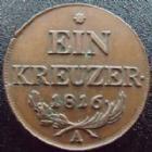 Photo numismatique  Monnaies Monnaies étrangères Autriche, Austria, osterreich 1 Kreuzer Autriche, Austria, Ostereich, 1 kreuzer 1816 A, Franz II, TTB+