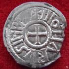 Photo numismatique  Monnaies Monnaies Carolingienne Lothaire I er, Lothar I Denier Pavia, Pavie LOTHAIRE I er, LOTHAR I, 840-855, denier de Pavie, Pavia, 1,55 grms, Prou.904 petit manque sinon TTB/TTB+ R!