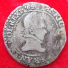 Photo numismatique  Monnaies Monnaies Royales Henri III Quart de Franc au col plat HENRI III, 1/4 de franc au col plat 1578 x Amiens, 3,50 grms, DY.1132 TB Rare!