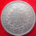 Photo numismatique  Monnaies Monnaies Françaises Troisième République 5 Francs 5 francs Hercule 1875 A, G.745a SUPERBE