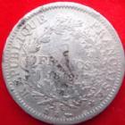Photo numismatique  Monnaies Monnaies Françaises Deuxième République 5 Francs 5 francs Hercule 1849 K Bordeaux, G.683 TB Rare!
