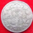 Photo numismatique  Monnaies Monnaies Françaises Louis XVIII 5 Francs LOUIS XVIII, 5 francs 1821 A, G.614 TB à TTB