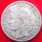 Photo numismatique  Monnaies Monnaies Françaises Défense nationale 2 Francs 2 francs Cérès sans légende 1870 K Ancre, Défense Nationale, G.529 TB à TTB