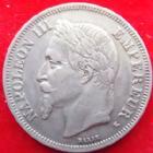 Photo numismatique  Monnaies Monnaies Françaises Second Empire 2 Francs NAPOLEON III, 2 francs 1866 K Bordeaux, G.527 TTB+/TTB