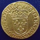 Photo numismatique  Monnaies Monnaies royales en or Louis XIII Ecu d'or au soleil LOUIS XIII, Ecu d'or au soleil 1637 B Rouen, 3,35 grms L4L.1 SUPERBE