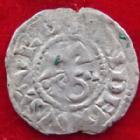 Photo numismatique  Monnaies Monnaies Féodales Anjou Denier, denar, denario, denarius ANJOU, Foulques V, denier 11 eme siècle, 0,84 grm, Bd.153 variante TB+