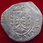 Photo numismatique  Monnaies Monnaies Féodales Franche comté besançon Teston Besançon, Franche Comté, Carolus V, Teston ou 8 gros 1624, 6,80 grms, Bd.1288 TB à TTB