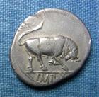 Photo numismatique  Monnaies Empire Romain AUGUSTE, AUGUSTUS, AUGUSTO Denier, denar, denario, denarius AUGUSTE, Denier frappé à Lyon en 15.13 avant JC, RIC 167a, TTB