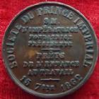 Photo numismatique  Monnaies Jetons Jeton de Napoleon IV Jeton cuivre NAPOLEON IV, jeton en cuivre 27 mm, 1862, prêts de l'enfance au travail, TTB+