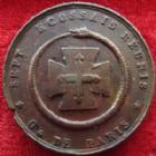 Photo numismatique  Monnaies Jetons Francs Maçons Jeton FRANCS MACONS, jeton 30 mm, Sept Ecossais Réunis de Paris, 1808-1866, TTB