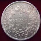 Photo numismatique  Monnaies Monnaies Françaises Troisième République 5 Francs 5 Francs Hercule 1875 A Paris, G.745a TTB+