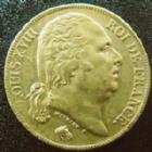 Photo numismatique  Monnaies Monnaies Française en or Louis XVIII 20 Francs or LOUIS XVIII, 20 francs or 1819 A, OR 900°/°°, G.1028 TTB/TTB+