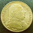 Photo numismatique  Monnaies Monnaies Française en or Louis XVIII 20 Francs or LOUIS XVIII, 20 francs or au buste habillé 1814 A, OR 900°/°°, G.1026 TTB+