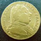 Photo numismatique  Monnaies Monnaies Française en or Louis XVIII 20 Francs or LOUIS XVIII, 20 francs or au buste habillé 1814 L Bayonne, OR 900°/°°, G.1026 presque TTB