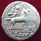 Photo numismatique  Monnaies R�publique Romaine Antestia 136 avant Jc Denier, denar, denario, denarius L.ANTESTIUS GRACULUS, denier Rome en 136 avant Jc, quadrige, 3,82 grms, RSC.9 TTB/TB+