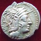 Photo numismatique  Monnaies R�publique Romaine Calidia 117 avant Jc Denier, denar, denario, denarius MARCUS CALIDIUS Q.METELLUS et Cn FULVIUS, denier Rome en 117 avant Jc, Bige, 3,95 grms, RSC.Calidia 1 TTB+