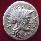 Photo numismatique  Monnaies République Romaine Domitia 116 avant Jc Denier, denar, denario, denarius Cn DOMITIUS AHENOBARBUS, Denier Rome en 116-115 avant Jc, Quadrige, 3,85 grms, RSC.Domitia 7 TTB+/TTB