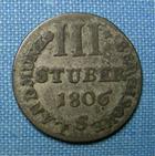 Photo numismatique  Monnaies Monnaies étrangères Allemagne Berg 3 Stuber Allemagne Berg, 1806 S, 3 Stuber, KM.7 TTB