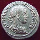 Photo numismatique  Monnaies Colonies Romaines Syria, Syrie, Gordiannus, Gordien Tetradrachme, Tetradrachm SYRIE, SYRIA, Antioche, Gordiannus III, Gordien III, tétradrachme, 238-244, aigle,  10,38 grms,  Sear.3779 TTB