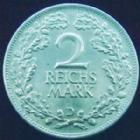 Photo numismatique  Monnaies Allemagne après 1871 Allemagne, Deutschland, Weimar republik, republique de Weimar 2 mark Allemagne, Deutschland, Weimar Republik, République de Weimar, 2 mark 1926 D, J.320 SUPERBE