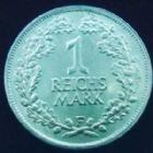 Photo numismatique  Monnaies Allemagne après 1871 Allemagne, Deutschland, Weimar republik, republique de Weimar 1 Mark Allemagne, Deutschland, Weimar Republik, République de Weimar, 1 mark 1925 F, J.319 presque SUPERBE