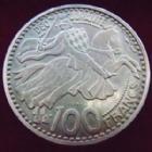 Photo numismatique  Monnaies Monnaies étrangères Monaco 100 francs Essai Piefort MONACO, Rainier III, 100 francs 1950