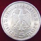 Photo numismatique  Monnaies Allemagne après 1871 allemagne, deutschland, germany, dritte reich, 3 em reich 5 Mark Allemagne, Deutschland, dritte Reich, 3 eme Reich, 5 mark 1935 A, J.360 TTB