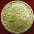 Photo numismatique  Monnaies Monnaies Françaises Gouvernement Provisoire 5 Francs 5 francs Lavrillier 1940 cupro-aluminium, G.761a TTB+