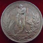 Photo numismatique  Monnaies Médailles Défense nationale Medaille, Jeton Defense National, Ardèche, Eure, Landes, Loire, Calvados, 1870-1871, medaille 30 mm, TTB+