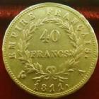 Photo numismatique  Monnaies Monnaies Française en or 1er Empire 40 Francs or NAPOLEON Ier, 40 francs or 1811 A, OR 900°/°°, G.1084 TTB