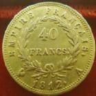 Photo numismatique  Monnaies Monnaies Française en or 1er Empire 40 Francs or NAPOLEON I er, 40 francs or 1812 A, OR 900°/°°, G.1084 TTB