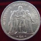 Photo numismatique  Monnaies Monnaies Françaises Troisième République 5 Francs 5 francs Hercule 1877 A, G.745a SUPERBE