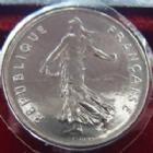 Photo numismatique  Monnaies Monnaies Françaises Cinquième république 5 Francs 5 Francs semeuse de Roty 1998, G.771 BU (brillant universel)