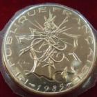 Photo numismatique  Monnaies Monnaies Françaises Cinquième république 10 francs Mathieu 10 Francs Mathieu 1985 tranche B? G.814 FDC