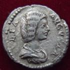 Photo numismatique  Monnaies Empire Romain JULIA DOMNA, IULIA DOMNA Denier, denar, denario, denarius IULIA DOMNA, JULIA DOMNA, denier Rome en 206, Felicitas, 2,83 grms, RIC.551 TTB/TB+