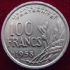 Photo numismatique  Monnaies Monnaies Françaises 4ème république 100 Francs 100 Francs Cochet 1958, G.897 TTB à SUPERBE