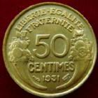 Photo numismatique  Monnaies Monnaies Françaises Troisième République 50 Centimes 50 Centimes Morlon 1931, G.423 SUPERBE+