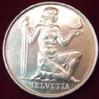 Photo numismatique  Monnaies Monnaies étrangères SUISSE, SCHWEIZ, SWITZERLAND 5 Francs Suisse, Schweiz, Switzerland, 5 francs 1936, fond pour l'armement, KM/WC 20/41 SUPERBE+