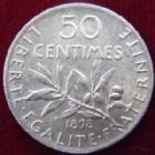 Photo numismatique  Monnaies Monnaies Françaises Troisième République 50 Centimes 50 centimes Semeuse de Roty 1898, G.420 SUPERBE