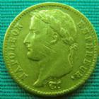 Photo numismatique  Monnaies Monnaies Française en or 1er Empire 20 Francs or NAPOLEON Ier, 20 francs or 1811 A, OR 900°/°° 6,45 grms, G.1025 stries sur la joue sinon TTB